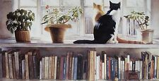 "Steve Hanks, ""Bookends"", small framed & matted print,12x16 frame, last one!"