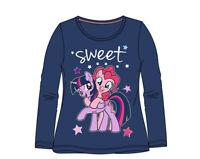 My Little Pony Langarmshirt Mädchen Pullover Gr. 98,104,110,116,128 Blau Neu/Ovp