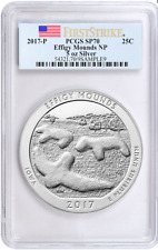 2017-P America the Beautiful 5 Oz Silver EFFIGY MOUNDS PCGS SP-70 FirstStrike®