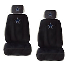 2 New Dallas Cowboys Car Truck Front Seat Covers w/ Head Rest Cover Universal