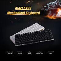 Mechanical Keyboard Gaming LED Backlit Light RGB Wired Desktop Computer 82 Keys