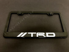 1xTRDstyle BLACK Stainless Metal License Plate Frame + Screw Caps (Style A)