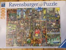 "Ravensburger Bizarre Town 5000 piece puzzle 60""x40"" Colin Thompson New Sealed"