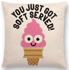 Ice Cream Pilowcase Black And White Cushion For Kid Bedroom 45x45cm Pilowcase