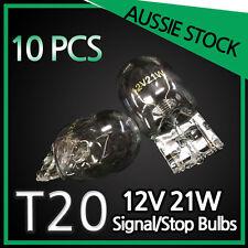T20 12V 21W GLOBES BLUBS TAIL LIGHT WEDGE CLEAR WHITE BULK PACK 10 Bulbs