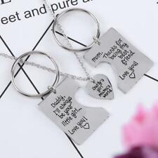 3pcs/Set Pendant Love Necklace+2 Simple Key Chains For Daddy Girl Kid Mama Gifts