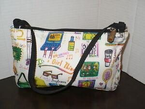 LE SPORT SAC Small Handbag ~IT'S A GIRL THING Print