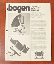 BOGEN ARCA SWISS VIEW CAMERA SALES BROCHURE/125968