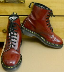 Dr Martens 1460 Cherry Red Vintage Made in England Patent shoes Size UK 7, EU 41