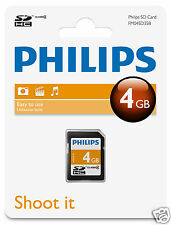 Philips SDHC-Karte 4GB Class 4 Speicherkarte FM04SD35B