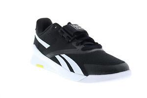 Reebok Lifter Pr II FU9444 Mens Black Canvas Athletic Weightlifting Shoes