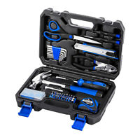 49 Piece Portable Household Hand Tool Kit with Tool Box Storage Case Prostormer