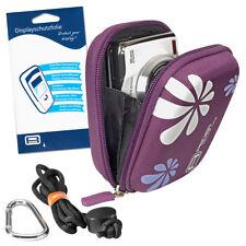 Kameratasche + Folie für Sony DSC WX350, Panas. Lumix DMC-TZ7 HP PhotoSmart E317