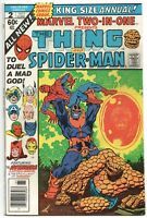 Marvel Two-In-One Annual 2 1977 FN VF Thing Spider-Man Thanos