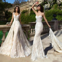 Strapless Wedding Dresses Jacket White Ivory Lace Bridal Gowns Long Train Sheath