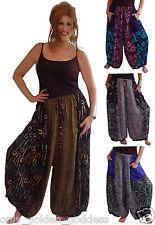 pants harem gauchos pick size & color patch rayon batik pockets