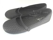 Sam & Libby Women's Ballet Flats Fabric Upper Leather Sole Black Mary Jane 8.5 M