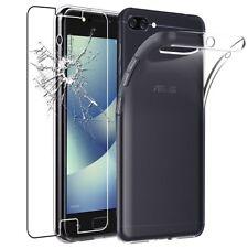 Pour Asus Zenfone 4 Max Zc520kl Coque Arrière en Silicone transparent + 1 VERRE