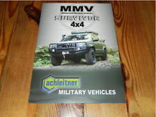 Achleitner MMV Survivor Military Vehicles Truck 2012 Brochure Prospekt Katalog