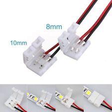 CAVO CONNETTORE A CLIP STRISCIA LED 5050 10mm 8mm 2 - 4 pin rgb bobina unire