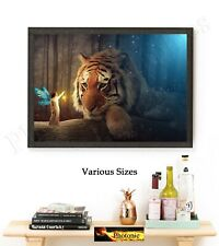 Tiger & The Fairy Bedroom Pictures Mythical Prints ONLY Wall Hangings A4