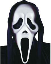 Scream Ghost Face Mask With Shroud One Size