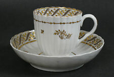 Worcester soft paste porcelain coffee cup and saucer.