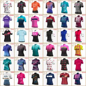 2021 Summer Cycling Jersey Womens Team Bike Wear Bicycle Shirt Short Sleeve Tops
