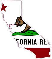 Adesivi adesivo moto auto sticker bandiera vinyl decal mappa california america
