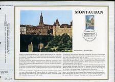 DOCUMENT CEF PREMIER JOUR  1980  TIMBRE   N° 2083 MONTAUBAN