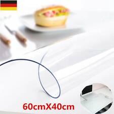 60x40cm Schreibtischunterlage transparent Schreibunterlage Auflage abwischbar DE