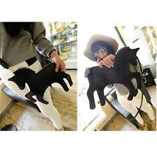 Women Girl Pony Soulder Bag Animal Bags Horse Shaped Satchel Shoulder Bags B