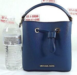 Michael Kors Suri Small Saffiano Leather Bucket Crossbody Purse Bag