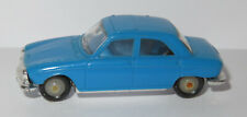 An old made in france 1966 micro norev oh 1/87 peugeot 204 light blue #532