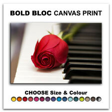 Roses Love Piano FLORAL  Canvas Art Print Box Framed Picture Wall Hanging BBD