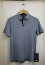 Lululemon Evolution Polo NWT Small HRMB Heathered Mach Blue Anti-Stink Men's