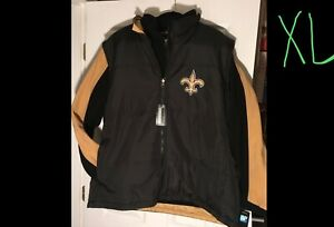 j XL New Orleans Saints Reversible Fleece Jacket & Vest NFL 3in1 Mens Size