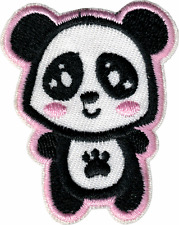 22131 Cute Panda Paw Print Cartoon Kawaii Belly Embroidered Sew Iron On Patch