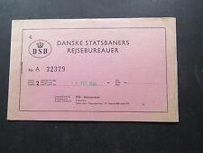 Train Ticket Dankse Skanropa Express Rejsebureauer DSB Kjobenhavn Munchen 1964