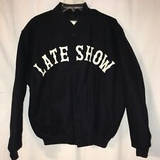 Late Show With David Letterman Navy Blue Varsity Jacket Large By Golden Bear USA