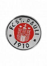 FC St. Pauli Pin Logo farbig Button, Anstecker  - plus Aufkleber Fans gegen Rech