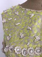 Vintage 60s Silk Embellished Dress