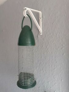"""1x STRONG Handmade Hanging Wind Chime / Feeder Brackets 4"""" NEW - WHITE Coated."""