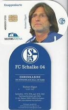 Knappenkarte FC Schalke 04 + Norbert Elgert + Hülle 5.- € Guthaben + Ehrenkabine