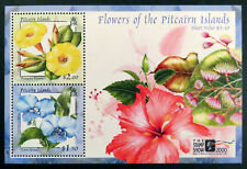 2000 Pitcairn Islands Stamps - Flowers - Stamp Show London O/P - Mini Sheet MNH
