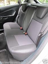 FORD FIESTA EDGE  BLACK LEATHERETTE & CLOTH CAR SEAT COVERS