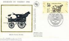 1986**FDC SOIE 1°JOUR!!**JOURNEE DU TIMBRE-BRISKA**TIMBRE Y/T 2411