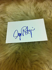 RODRIGUE Blue Dog George Rodrigue Signed Index Card Beautiful and Very RARE  #4