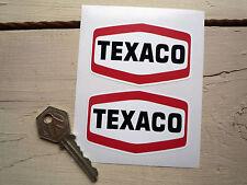 Texaco Aceite F1 Fórmula Uno Nascar Indycar Race Car calcomanía de pegatinas 75mm Par Gas