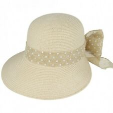 cc24c42aad1 NEW CLOCHE DOWNTON ABBEY STYLE SUN HAT LADIES GIRLS STRAW STYLE BEACH SUMMER